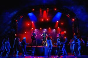 The cast of Cilla: The Muiscal on stage at The Liverpool Empire as part of the World Premiere performance