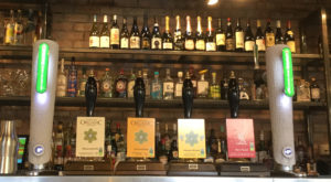 Some of the beers and wines on offer at The Courtyard Bar & Kitchen, Liverpool