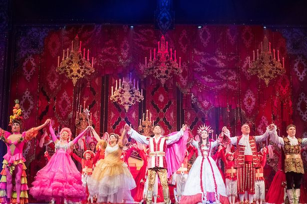 Glamerous Costumes prevail, with a spot or two of brilliant acting, at The Liverpool Empire's Panto.