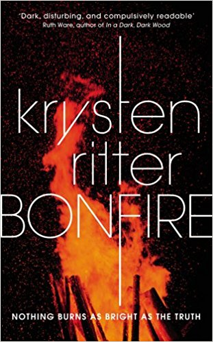 The cover of Bonfire the debut novel by Krysten Ritter